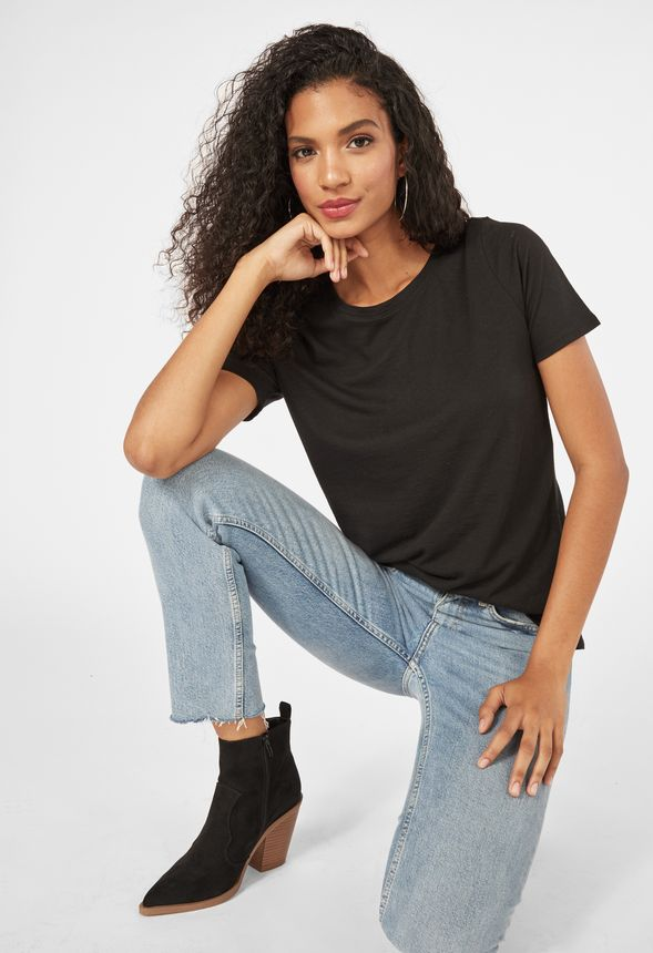 f8d658c18a9a0f Casual Boy Tee Clothing in Black - Get great deals at JustFab