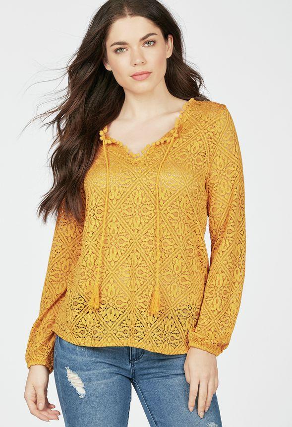 Crochet Peasant Blouse