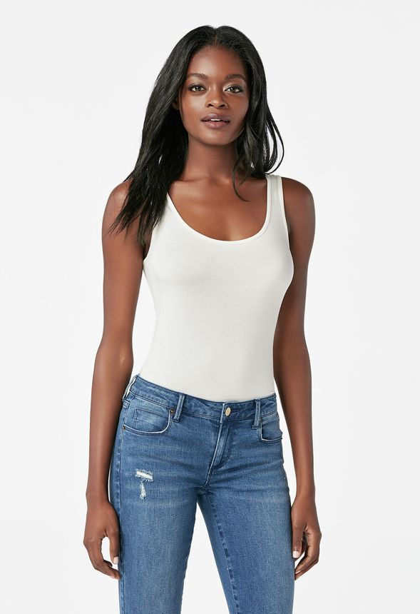 b51413b5f2fe Luxe Tank Top Clothing in Off White - Get great deals at JustFab