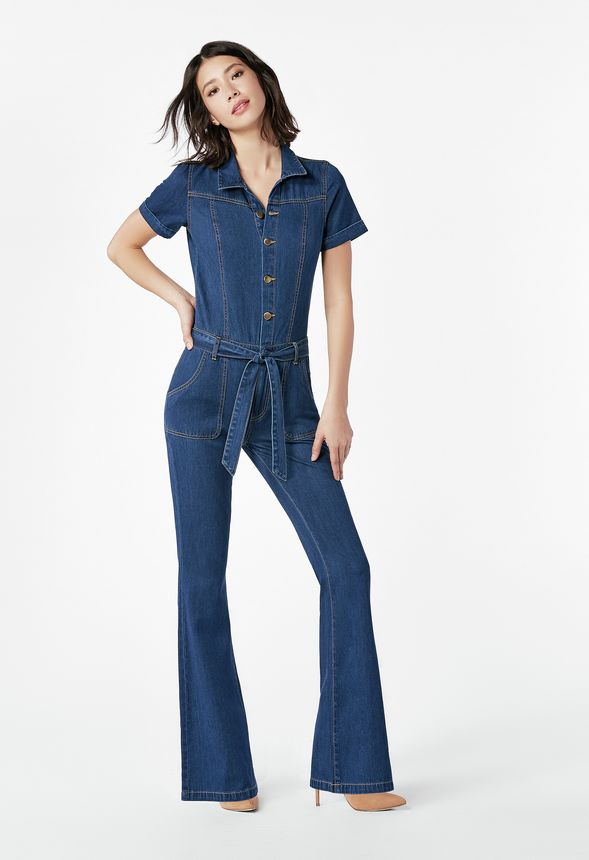 b9affff33f7 Denim Jumpsuit Clothing in indigo whisper - Get great deals at JustFab