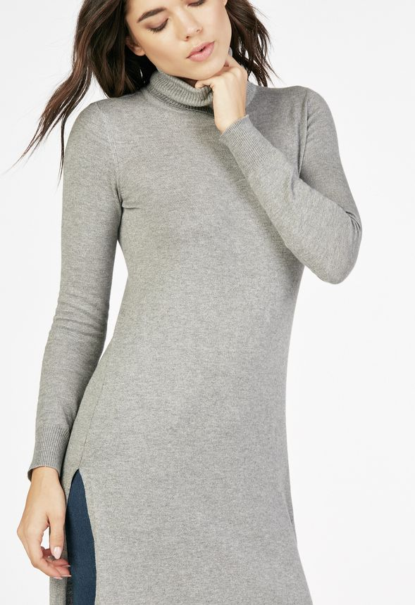 e1793edf1adb56 Long Tunic Sweater Clothing in Heather Grey - Get great deals at JustFab