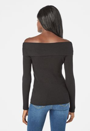 06d0b1c189 Off Shoulder Rib Sweater