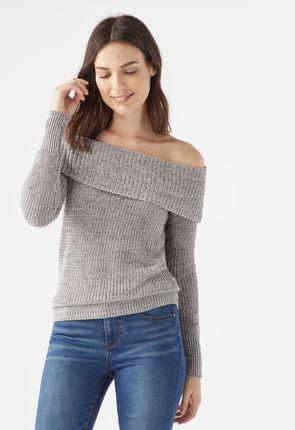 90fb282974f9a Off Shoulder Sweater ...