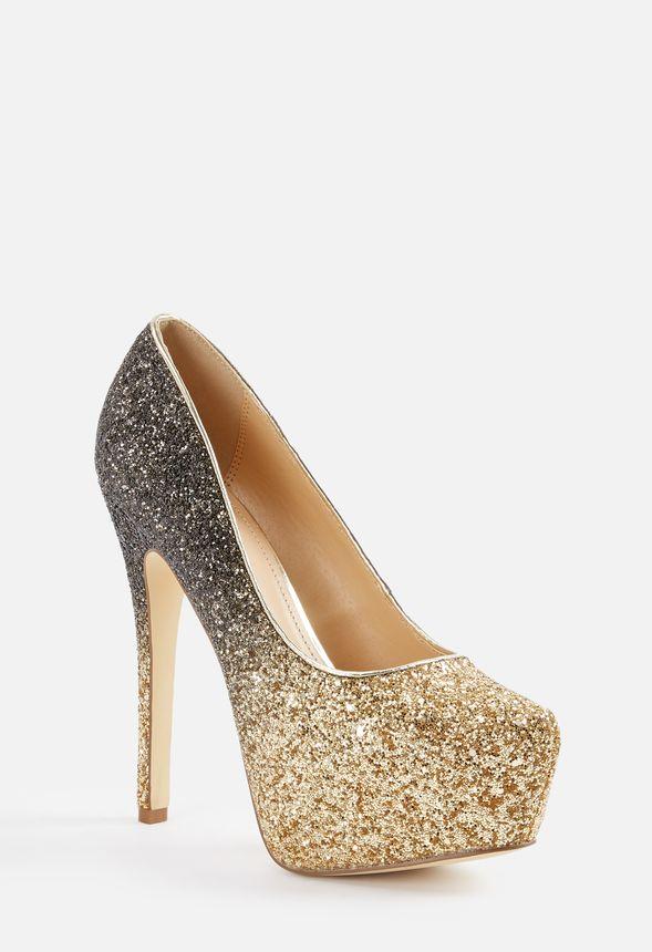 182589d7e733a Chaussures Escarpins à paillettes Giuseppah en Doré - Livraison ...