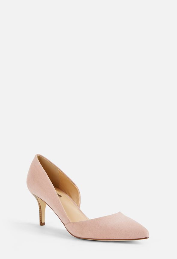 2cbc30a249b Lucinda Low Heel Court Shoes in Blush - Get great deals at JustFab