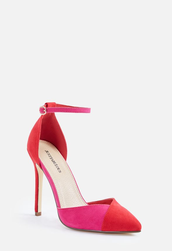 f80973add2997 Francesca Pump Shoes in RED PINK - Get great deals at JustFab