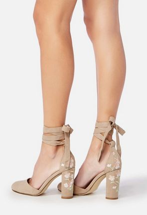 34617f50287b Sarina Embellished Heel Pump Shoes in Blush - Get great deals at JustFab