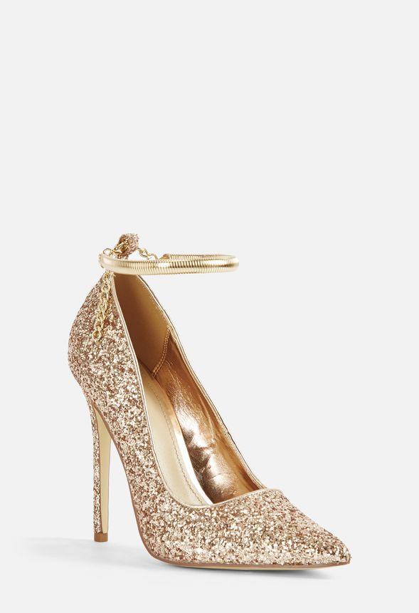 Sko Lousana Glitter Courts i Rosa Guld Shop fabelagtige