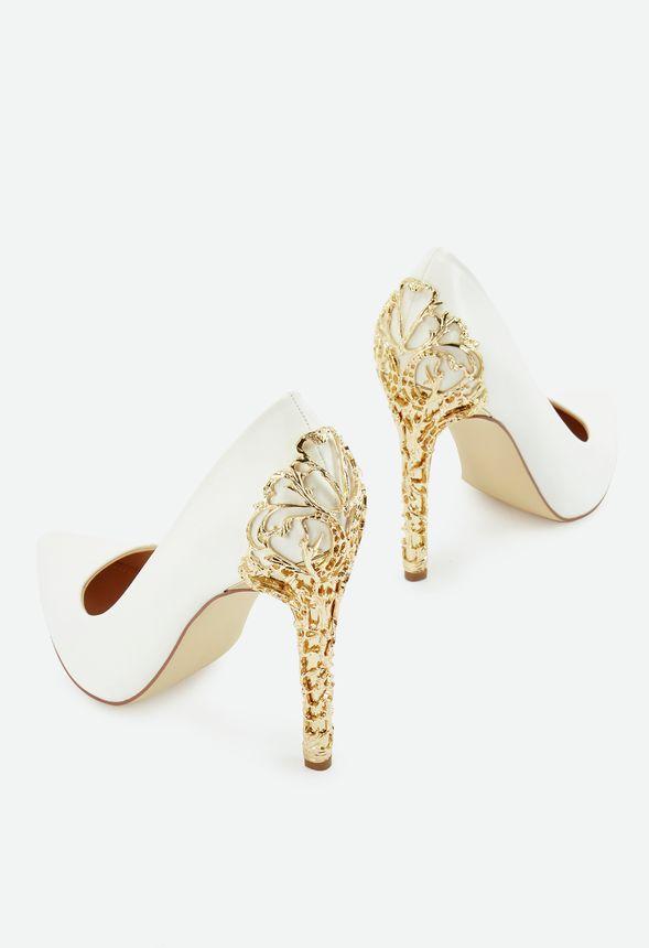 304897fa43416f Chaussures Escarpins Sarina en Blanc - Livraison gratuite sur JustFab