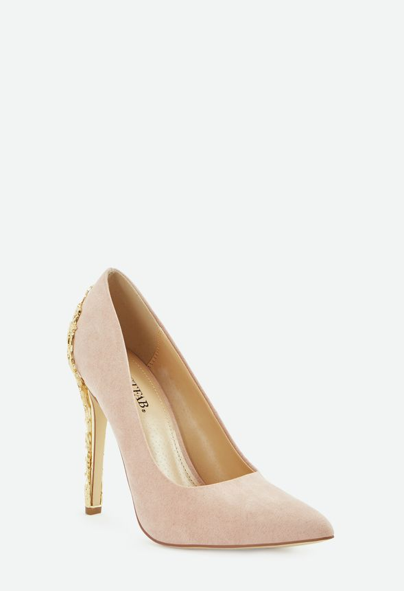34e41e69500 Sarina Embellished Heel Court Shoes in Blush - Get great deals at ...