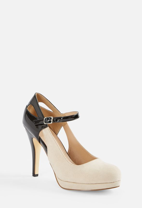 b99890627a36 Robbie Cutout Mary-Jane Court Shoes in Black Nude - Get great deals ...