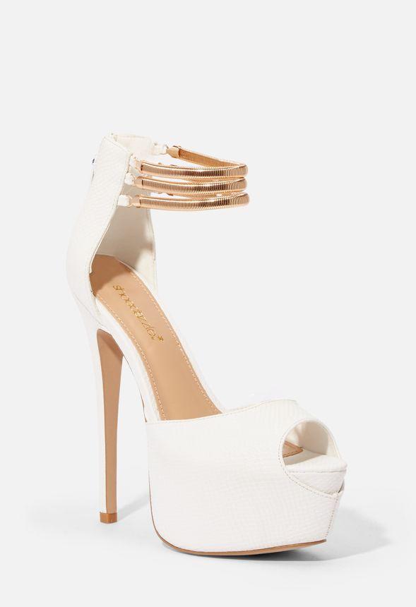 4b856a5700d Zapatos Zapatos de tacón Judy en Blanco - Envío gratuito en JustFab