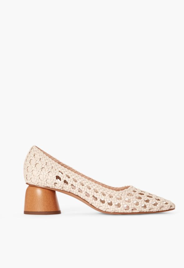 Allura Woven Court Shoes in Natural