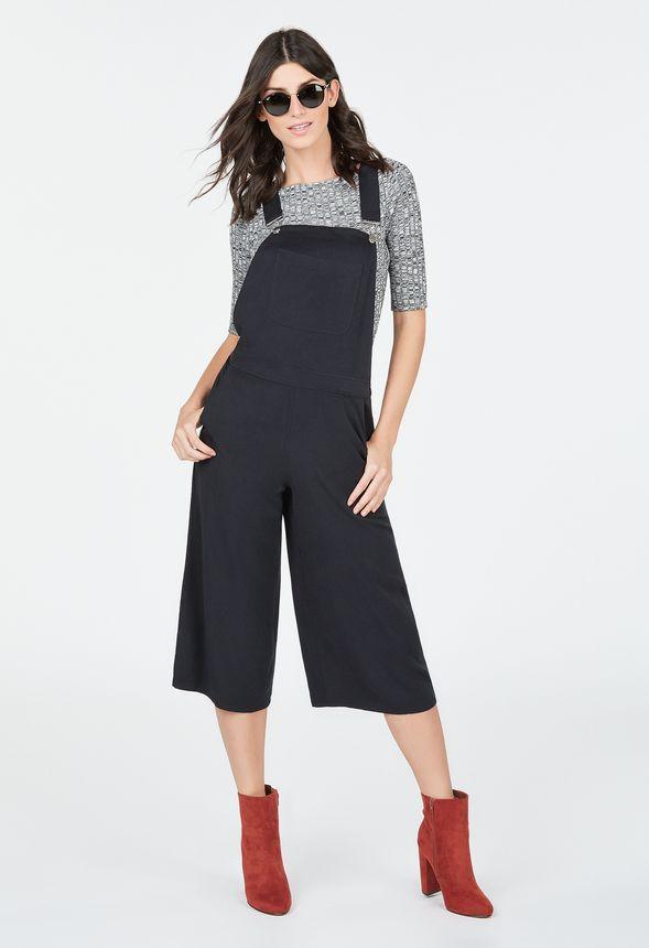 culotte overall kleidung in schwarz g nstig kaufen bei justfab. Black Bedroom Furniture Sets. Home Design Ideas