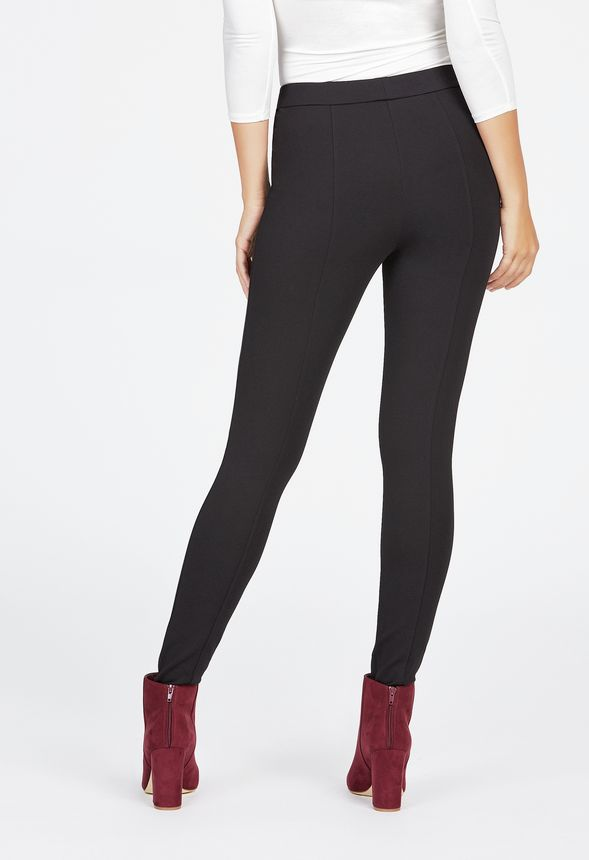 Seamed Ponte Legging Clothing in Black