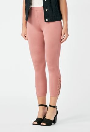 7c4904885d5633 Capri Legging Clothing in PINK MAUVE - Get great deals at JustFab