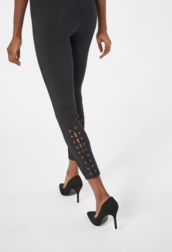 v tements back lace up leggings en noir livraison gratuite sur justfab. Black Bedroom Furniture Sets. Home Design Ideas