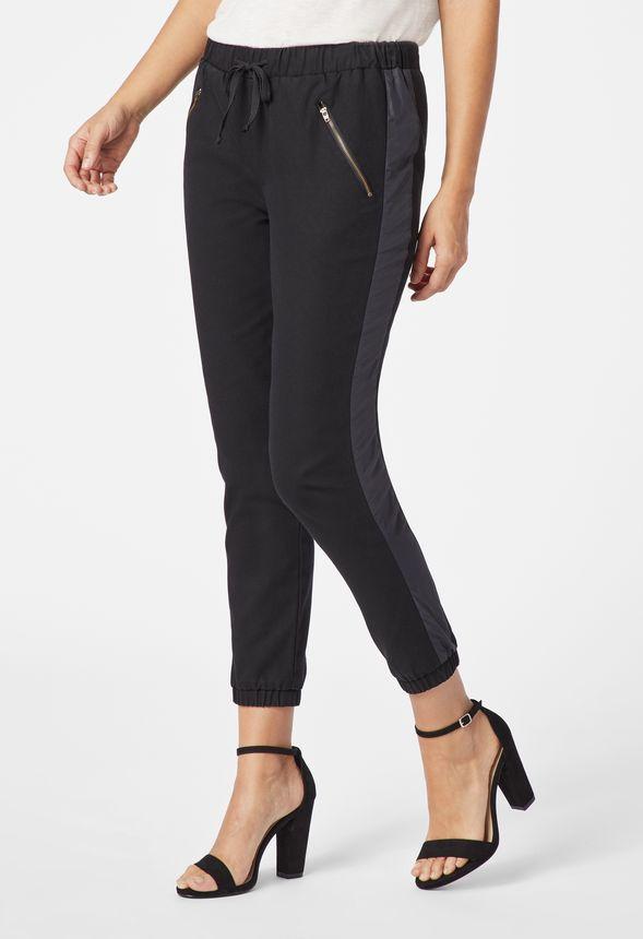 e2208de796d26 Joggers With Zipper Pockets Clothing in Black - Get great deals at JustFab