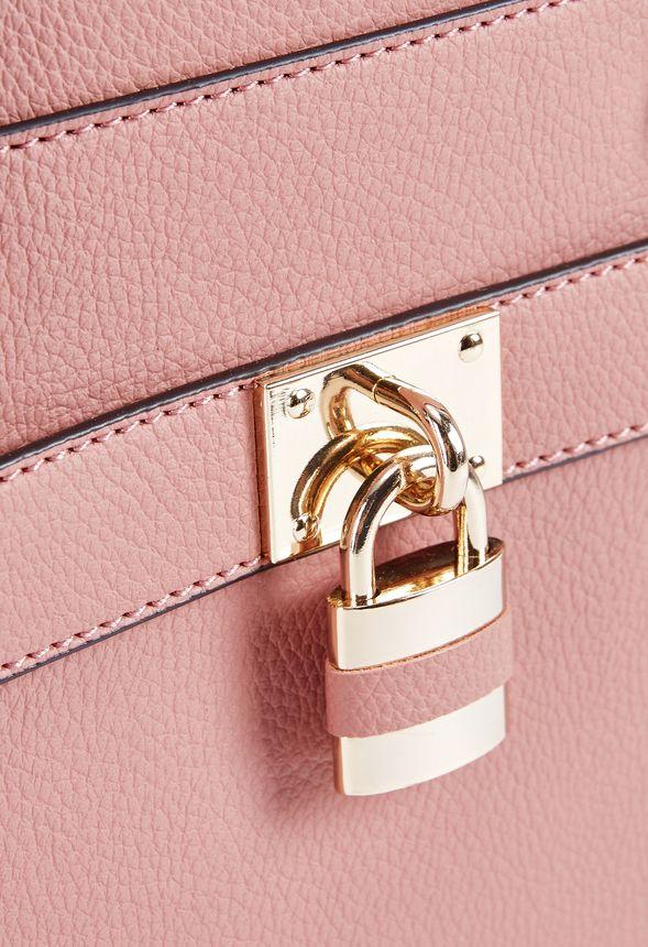fab function satchel handtaschen in dark blush g nstig kaufen bei justfab. Black Bedroom Furniture Sets. Home Design Ideas