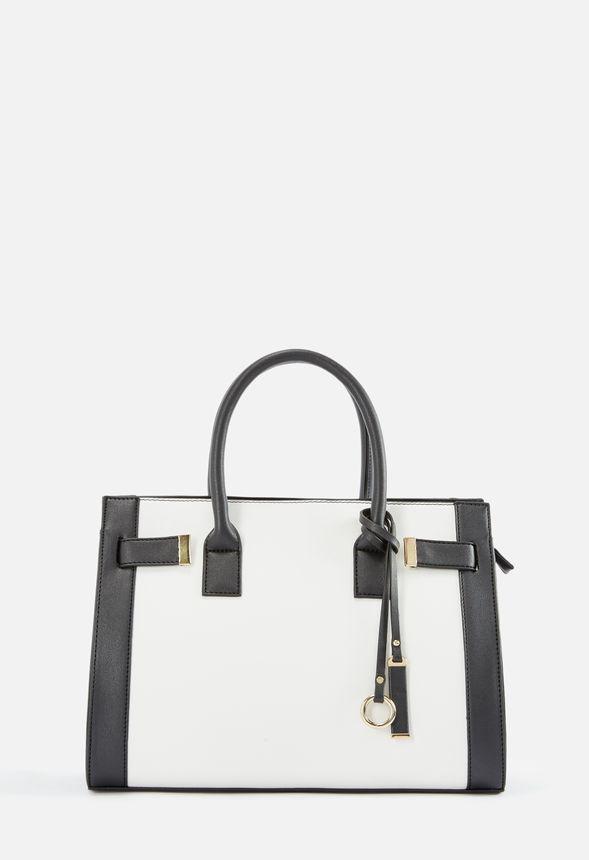 5b883e843dd8f Chic Convenience Satchel Handtaschen in Schwarz Weiß - günstig online kaufen  im JustFab Shop Deutschland