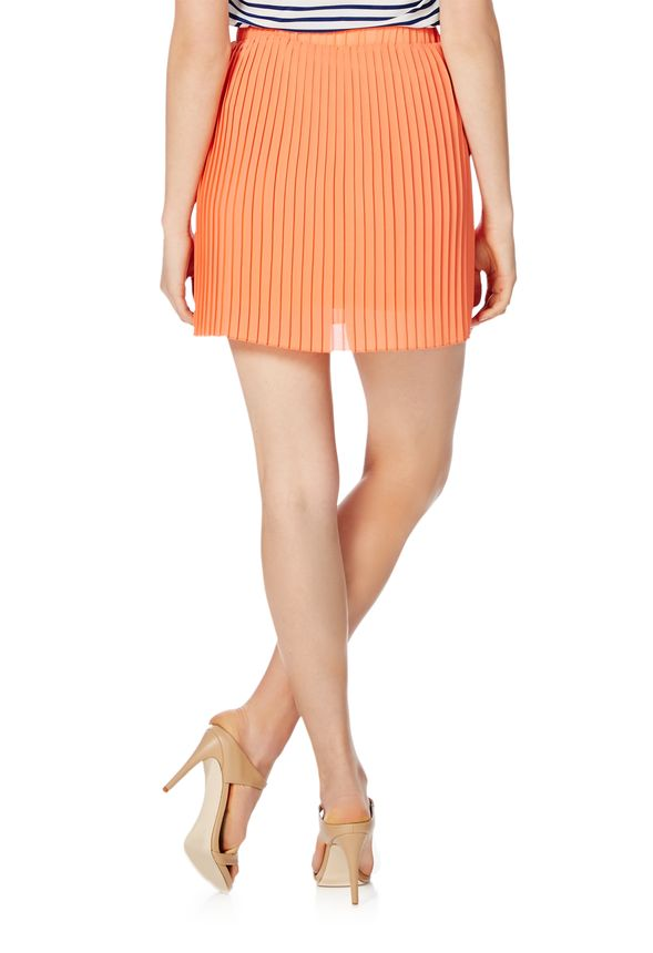 pleated mini skirt clothing in grapefruit get great