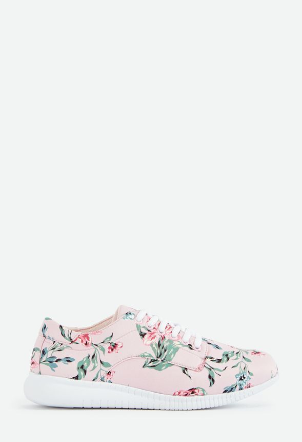 Fleur Real Floral Print Sneaker Schuhe in Blush Floral