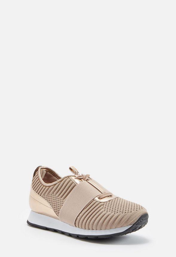a99b04f02f0a44 Melanda Stretch Knit Sneaker Schuhe in Rose Gold - günstig online ...
