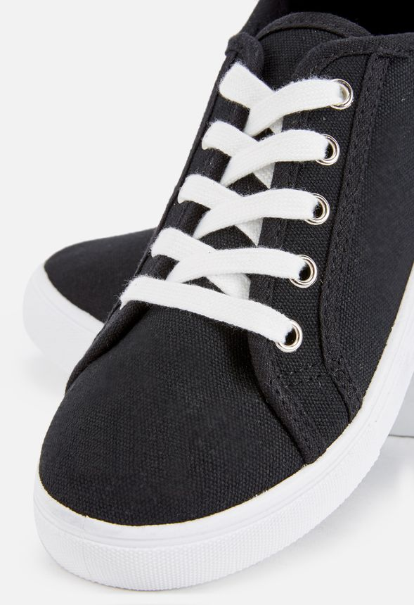 Nia Canvas Sneaker Shoes in Black - Get great deals at JustFab