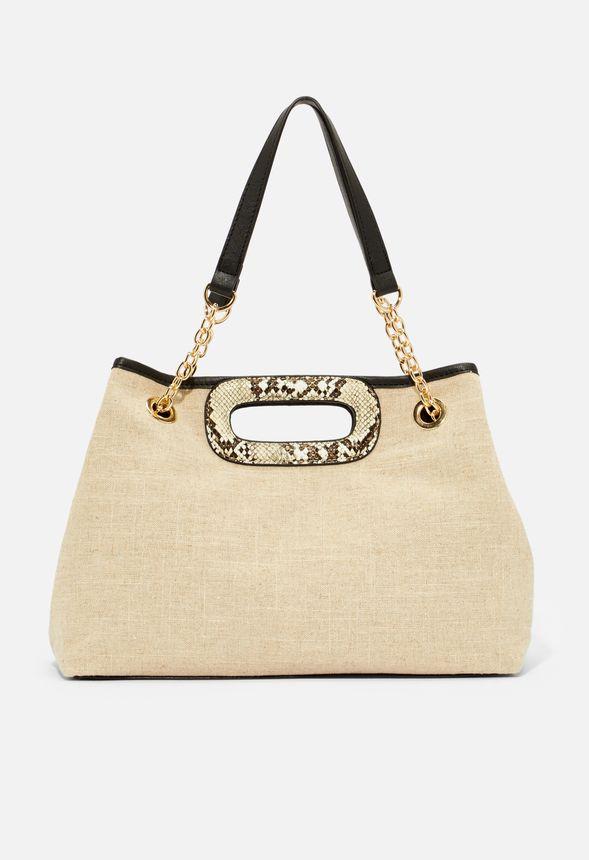 Väskor Cutout Handle Hobo Bag i LINENBLACK Fantastiska