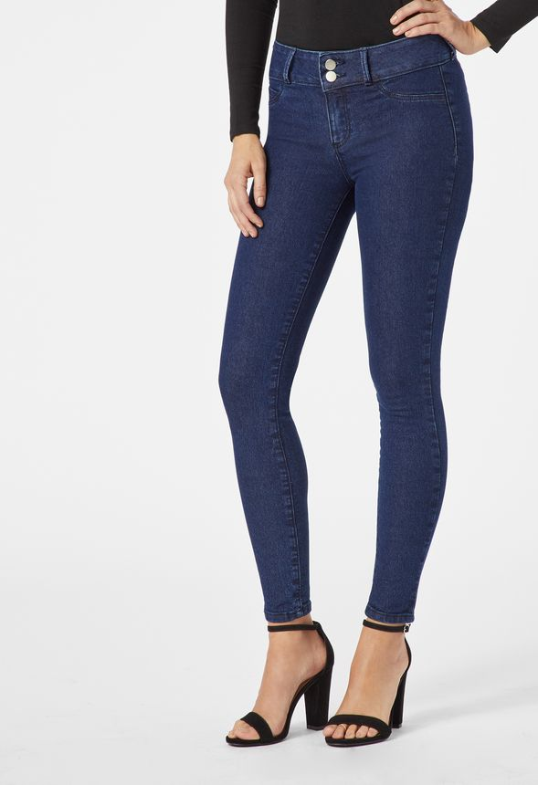 eac9feb03eb Booty Lifter Skinny Jeans Clothing in Enzyme Rinse - Get great deals at  JustFab