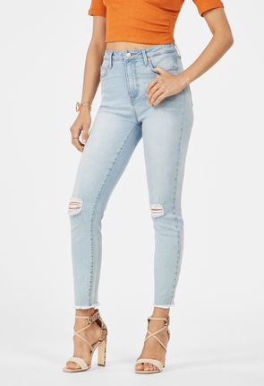 9c2ad175ef7 High Waisted Skinny Ankle Grazer Jeans ...