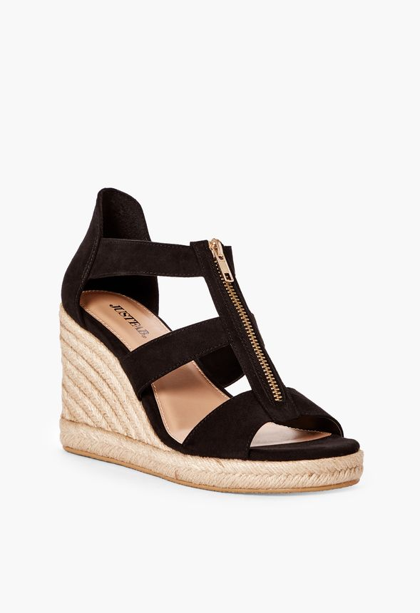84bfbee8dd7 Karsey Wedge Shoes in Black - Get great deals at JustFab