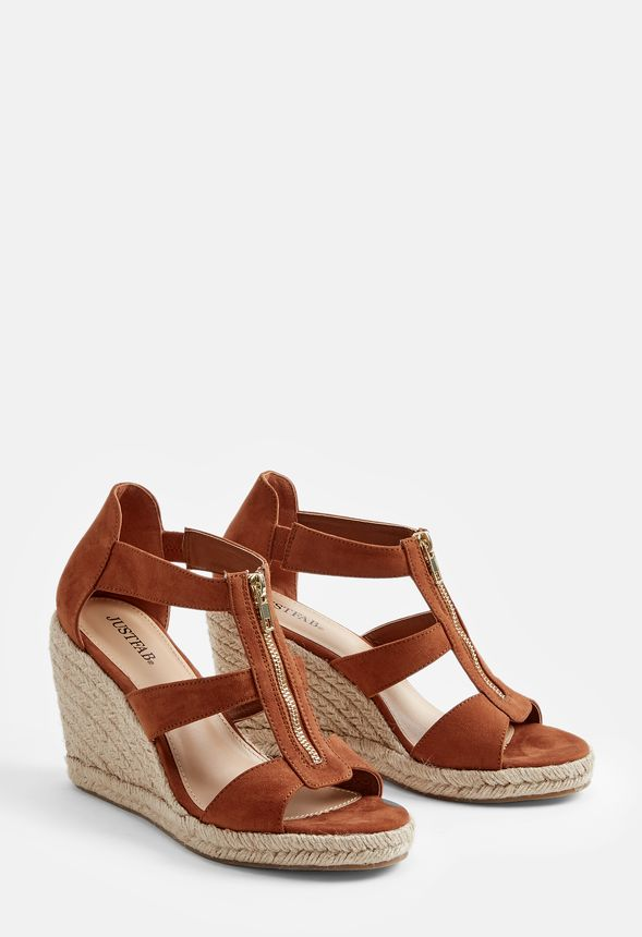 c9723904e8b Karsey Wedge Shoes in Cognac - Get great deals at JustFab