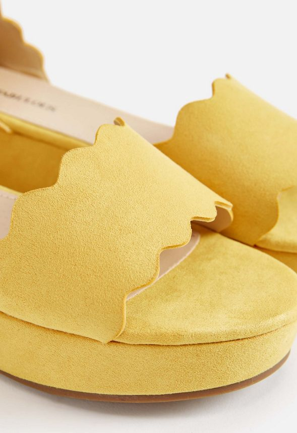 6cd2dd8a39c Sharla Wedge Shoes in Yellow - Get great deals at JustFab