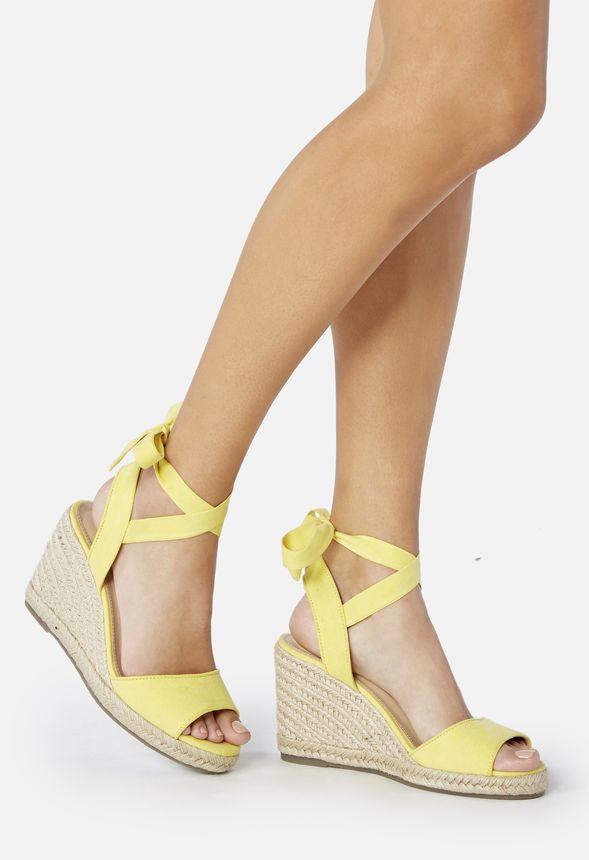 Gratuito Amarillo Justfab Zapatos Cuñas Cardie De En Envío Esparto l1J35uFKcT