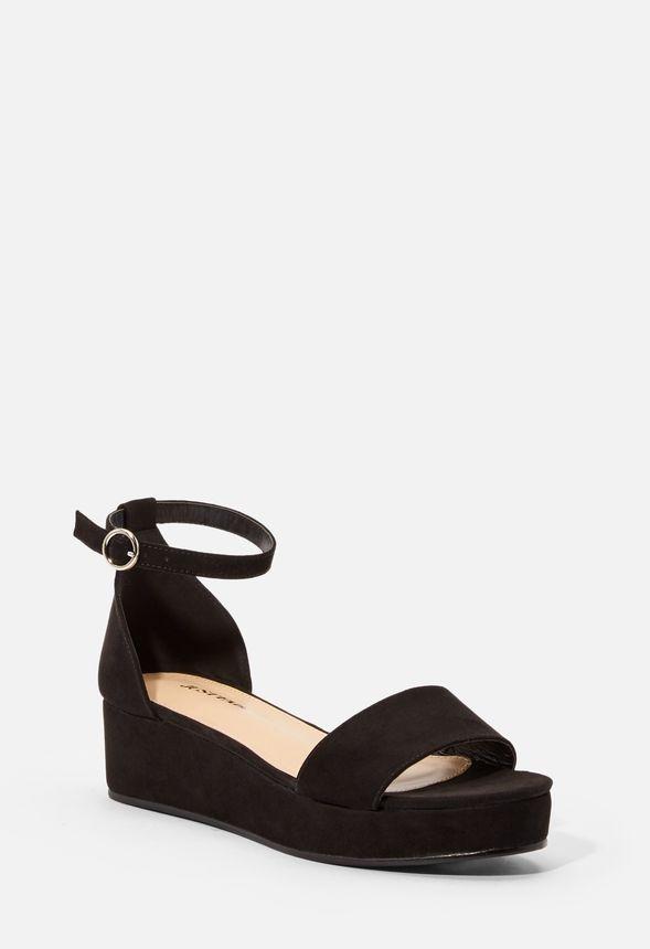 Chaussures à plateforme noires Justfab