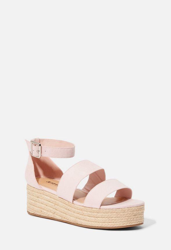 72db9558453 Zapatos Sandalias de cuña Elsie en Rosa - Envío gratuito en JustFab