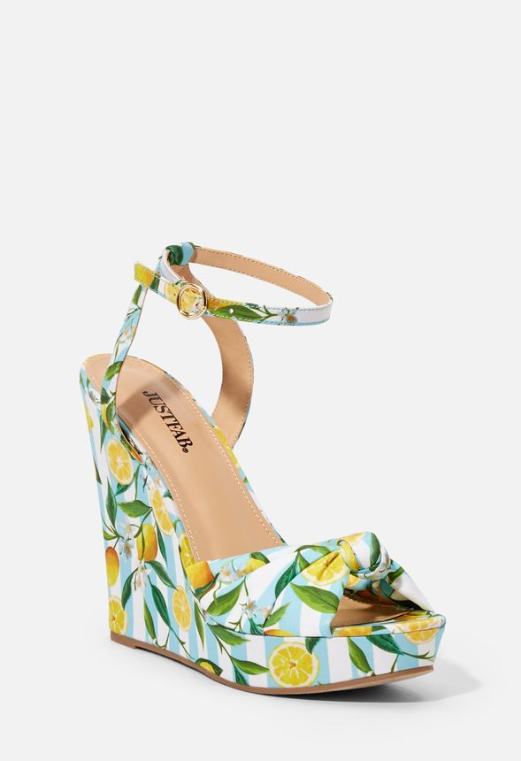 5752f8c288 Maddison Wedge Shoes in LEMON STRIPE - Get great deals at JustFab