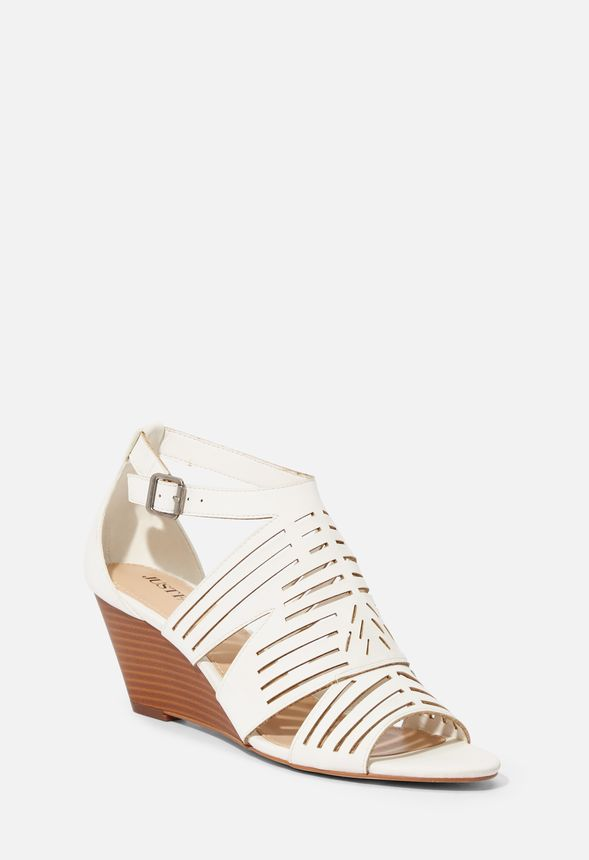 Making Plans Low Wedge Shoes in White