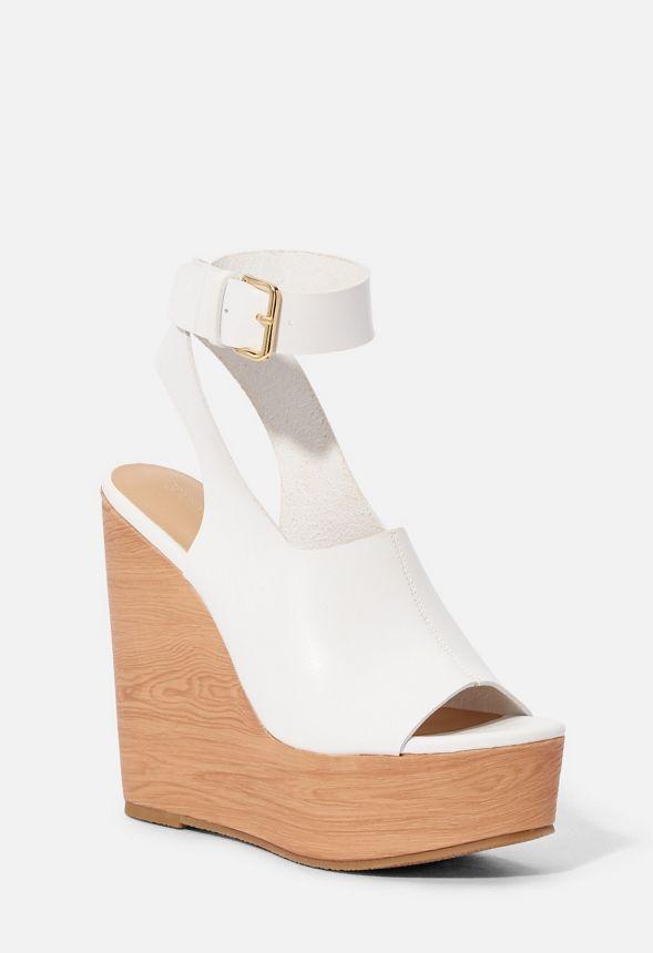 pretty nice b3170 baff2 Brooklyn Plateau-Schuh mit Keilabsatz Schuhe in Weiß ...