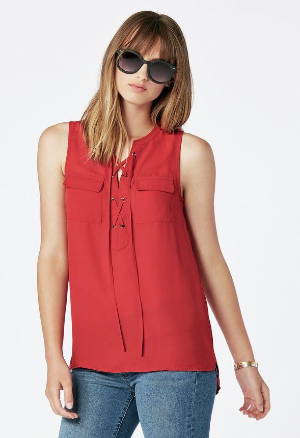ad5b7092499ceb Safari Tank Kleidung in Red Dahlia - günstig online kaufen im JustFab Shop  Deutschland