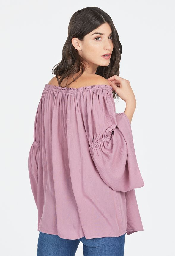 Bell Sleeve Off Shoulder Top