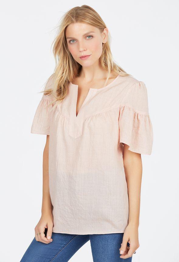 flutter sleeve top kleidung in light pink g nstig kaufen. Black Bedroom Furniture Sets. Home Design Ideas