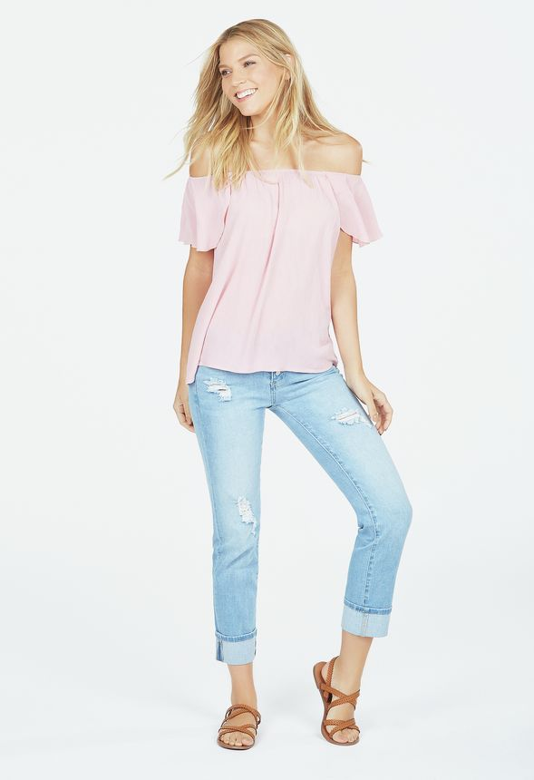Tulip Sleeve Peasant Top