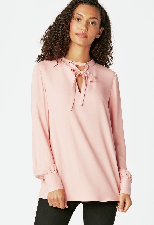 ab317269e27b5 Tie Bow Blouse Clothing in BRIDAL ROSE - Get great deals at JustFab