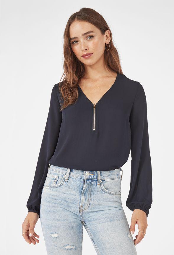 Dina blouse MQ.se | Blus, Dragkedja