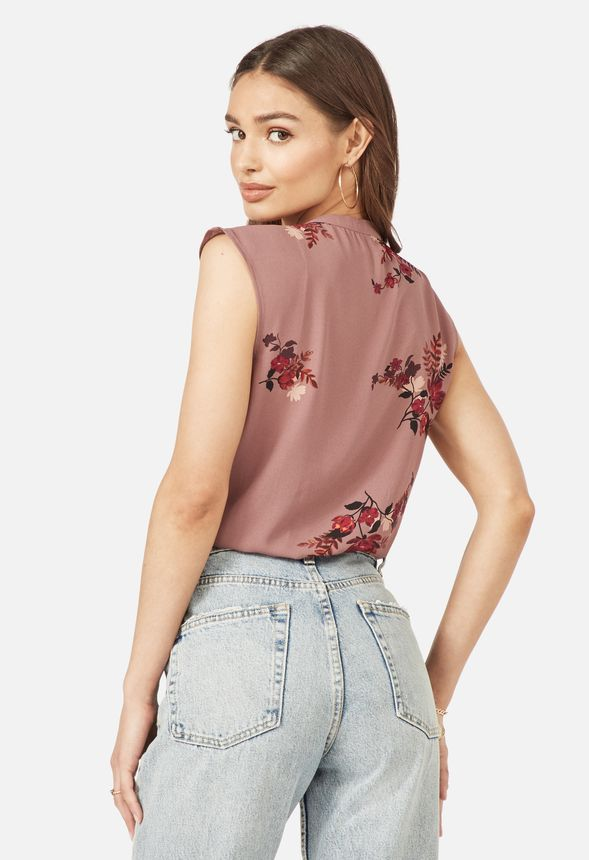 63c1ad23164153 Henley Short Sleeve Blouse Clothing in MESA ROSE MULTI - Get great ...