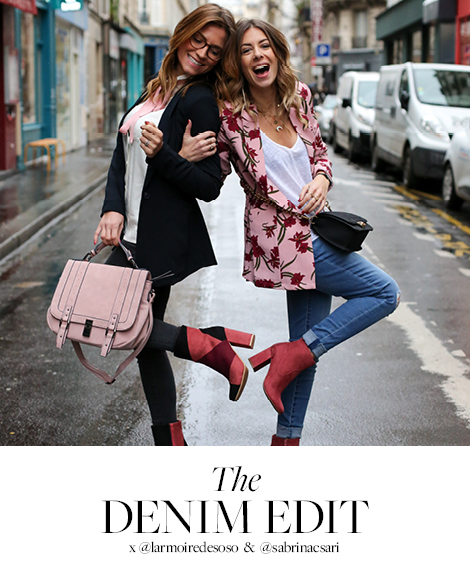 The Denim Edit x with @larmoiredesoso & @sabrinacsari
