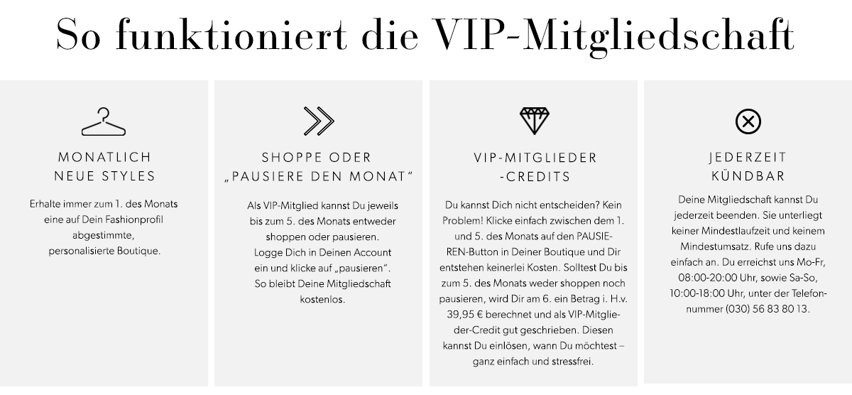 JustFab VIP Programme - How It Works