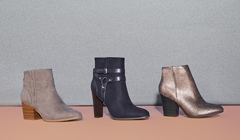 04f063eb4976 Booties. Pick up the pace in boots that were made for strutting! From  classic black ankle boots to open-toe ...